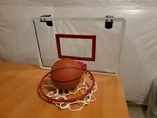 New listing Sharper Image Mini Basketball Hoop with spring-action steel rim and ball