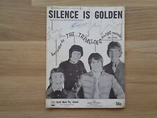 THE TREMELOES_Silence Is Golden_used sheet music_ships from AUS!_21K