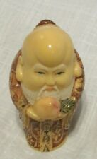 """Japanese Detailed Hand Crafted Hand Painted Netsuke Style Monk Holy Man 2.5"""""""