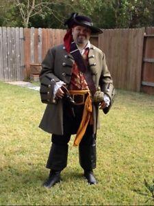 Custom Made 4pc. Renaissance Pirate Jack Sparrow frock coat vest shirt breeches