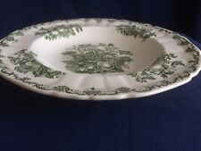"Masons Fruit Basket green 10"" rimmed soup bowl"