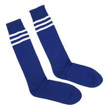 6698ac60b 1X( Old School White Stripe on Blue Knee High Athletic Sports Tube Sock  U4V5)