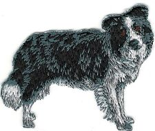 """2 1/2"""" x 3 1/4"""" Border Collie Full Body Dog Breed Embroidery Patch"""