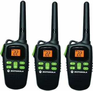 Motorola MD200TPR FRS Two-Way, 20 Mile Radio Triple Pack Black NEW FREE SHIPPING
