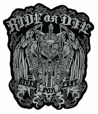Ride or Die, Biker For Life - Embroidered Motorcycle/Biker Patch