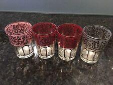 NEW Moroccan Tea Glasses - Set of 4 Coloured Glasses