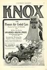 1904 Vintage Original KNOX Air-Cooled Brass-Era Car Ad + RACYCLE Bicycle Ad Ohio