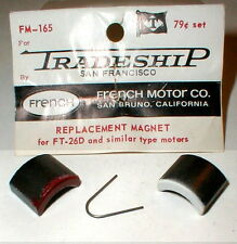 1 Pair 26D Super Magnets by French Motor Co with Retainer Spring  Sold TRADESHIP