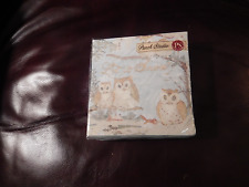 PUNCH STUDIO ''OWLS''  LET IT SNOW BEVERAGE PAPER NAPKINS 40 IN PACK-NEW