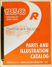 1985-1986 Chevy Espectro Maestro Partes Libro Ilustrado Chevrolet Parte Catalog