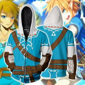 The Legend of Zelda Hoodie 3D Print Sweatshirt Zipper Anime Unisex Jacket Coat