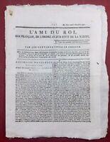 L'ami du Roi 1791 Rare Journal Royaliste Arnaud de Lavie Argoubet Thoisy