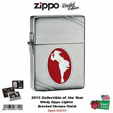 Zippo Windy Girl Lighter, 2013 Collectible of the Year 1935 Replica #28729