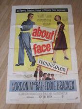 ABOUT FACE Original 1952 poster Gordon MacRae Eddie Bracken musical