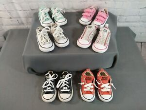 GUC lot of 6 toddler CONVERSE CHUCK TAYLOR athletic shoes - SIZE 6