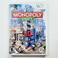 Monopoly Streets Nintendo Wii Complete CIB Tested Free Ship