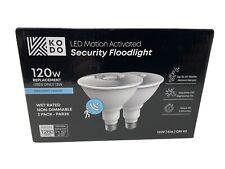 KODO 120-Watt Equivalent PAR38 LED Motion Sensor Flood Bulb Daylight (2-Pack)