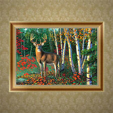 DIY 5D Diamond Embroidery Forest Deer Painting Cross Stitch Craft Home Decor