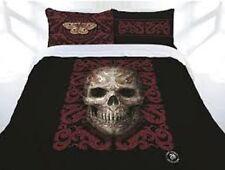ANNE STOKES ORIENTAL SKULL SKELETON KING BED QUILT COVER SET HOME DECOR