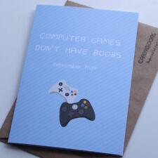 Jeux informatiques n'ont pas seins, petit ami, mari, Drôle saint valentin carte