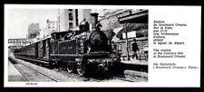 1977  --  TRAIN VAPEUR EN GARE DU BOULEVARD ORNANO  PARIS   3N533