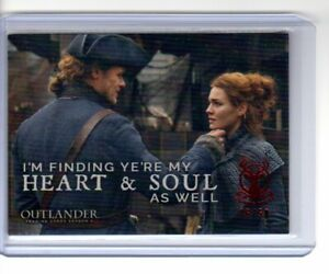 2019 Cryptozoic Outlander Season 4 Heart & Soul Father Daughter Red 46/50 F7