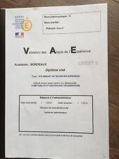 LIVRET 2 VAE BTS CGO COMPTABILITE GESTION DES ORGANISATION*ENVOI DèS PAIEMENT