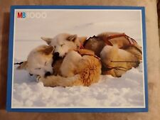 Hasbro MB 1000 Puzzle Jigsaw Huskies Sleeping