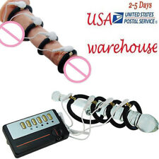 Electric Shock Pulse Enlarger Ring E-Stim Penis Extender Enhancer Accessories!