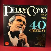 PERRY COMO 40 Greatest 1975 UK DOUBLE VINYL LP EXCELLENT CONDITION  best of hits