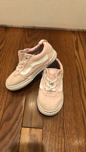 Vans slip on girl pink sneakers size 10