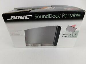 BOSE SoundDock Black 120V Portable Digital Music System w/ Battery, Remote NEW