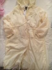 NEXT Outerwear Cream Shower Resistant Lightweight Coat Size 12 & Tags