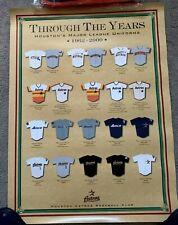 "HOUSTON ASTROS MLB Poster Through the Years Uniforms 1962-2000 18""x24"" new RARE"