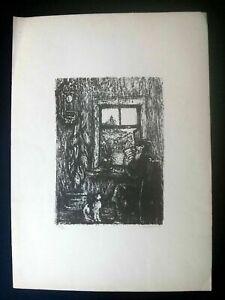 Old Jew. Original Signed Lithograph by Russian Artist Anatoli Kaplan