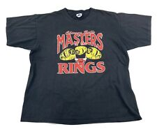 Vintage Chicago Bulls 3 Peat Championship Rings T Shirt Single Stitch Men's XL