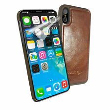 Alston Craig Magnetic Vintage Leather Shell for iPhone Xs Max -Brown