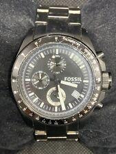 a39837f636aa Fossil CH2601 Reloj para Hombres Cronógrafo Acero Inoxidable Enchapado En  Ion negro 44mm O113