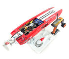 "E32 Fiber Glass Red Electric Racing RC Boat 30.9"" RTR W/ Motor Servo ESC Battery"
