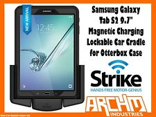 "STRIKE SAMSUNG GALAXY TAB S2 9.7"" LOCKABLE MAGNETIC CHARGE CRADLE OTTERBOX CASE"