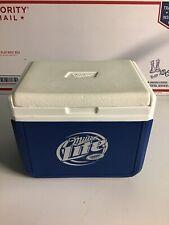 Miller Lite Beer Cooper Cooler Blue Plastic holds 6 cans Or Lunch 4.5 Litres