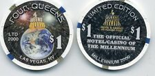 FOUR QUEENS LAS VEGAS $1 MILLENNIUM 2000   NEW  CHIP