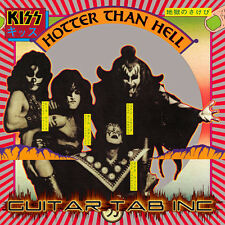 Kiss Digital Guitar Tab HOTTER THAN HELL Lessons Disc Ace Frehley Paul Stanley