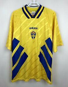 VINTAGE NATIONAL TEAM SWEDEN 1994 1995 1996 HOME JERSEY SHIRT FOOTBALL SOCCER