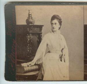 1870s Stereoview Mary Frances Scott Siddons, British Actress, Sarony, NY