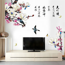 Magpie Chinese flower Room Home Decor Removable Wall Stickers Decals Decoration