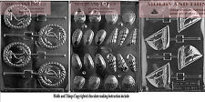 Anchor Candy Mold,Sailboat Lolly Chocolate Candy Mold and Shell chocolate candy