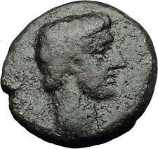 AUGUSTUS 27BC Philippi Macedonia PRIESTS Founding City Oxen Roman Coin i59282