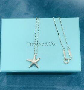 Genuine Tiffany & Co  Sterling Silver Elsa Peretti  Starfish Necklace