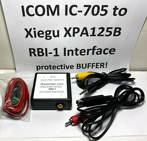 ICOM IC-705 to Xiegu XPA125B amplifier keying cable w/ RBI-1 BUFFERED Interface